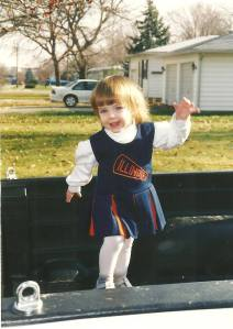 Proof that I've been an Illini fan my whole life.